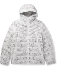 Nike Sportswear Logo-embroidered Quilted Camouflage-print Shell Jacket - White