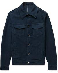 Incotex Cotton-moleskin Jacket - Blue