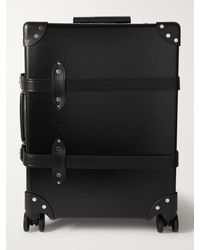"""Globe-Trotter Centenary 20"""" Leather-trimmed Carry-on Suitcase - Black"""