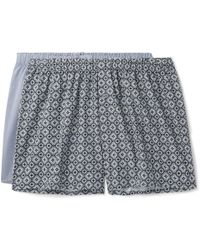 Hanro - Two-pack Cotton-poplin Boxer Shorts - Lyst