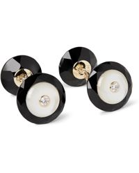 Trianon - 18-karat Gold, Onyx, Mother-of-pearl And Diamond Cufflinks - Lyst