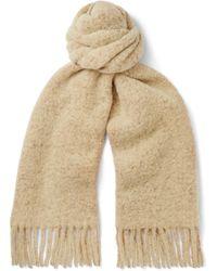 Séfr Fringed Wool-blend Scarf - Natural