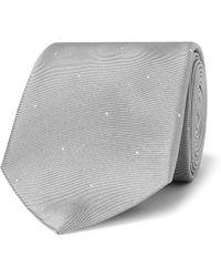 Dunhill - 8cm Polka-dot Silk-faille Tie - Lyst