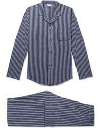 Derek Rose - Royal 211 Striped Cotton Pyjama Set - Lyst