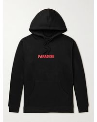 Paradise The Anger In Your Heart Printed Cotton-blend Jersey Hoodie - Black