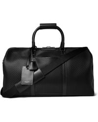 Serapian Leather-trimmed Stepan Coated-cotton Duffle Bag - Black