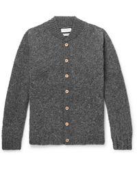 YMC - Brushed-wool Cardigan - Lyst