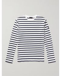 Armor Lux Slim-fit Striped Cotton-jersey T-shirt - White