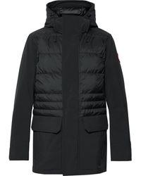 Canada Goose Breton Tri-durance Hooded Down Coat - Black