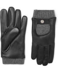 Mulberry - Cashmere And Leather Gloves - Lyst