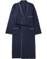 Anderson & Sheppard - Piped Linen Robe - Lyst