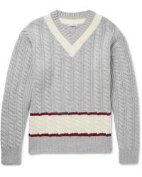 Tomas Maier - Slim-fit Cable-knit Wool Cricket Sweater - Lyst