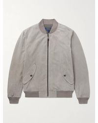 Polo Ralph Lauren Suede Bomber Jacket - Grey