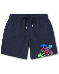 Vilebrequin Motu Mid-length Logo-detailed Swim Shorts - Blue