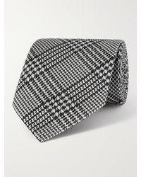 Tom Ford 8cm Checked Silk-jacquard Tie - Grey
