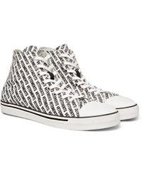 Vetements - Printed Canvas High-top Sneakers - Lyst