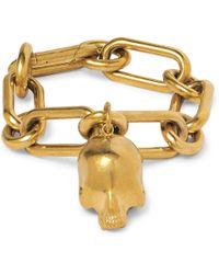 Undercover Skull Gold-tone Chain Bracelet - Metallic