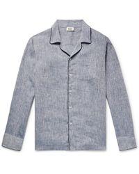 Sleepy Jones | Henry Slub Linen Pyjama Shirt | Lyst