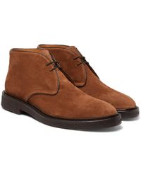 MR P. Lucien Suede Desert Boots - Brown