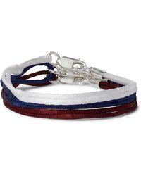 Rubinacci Set Of Three Silk Bracelets - Blue