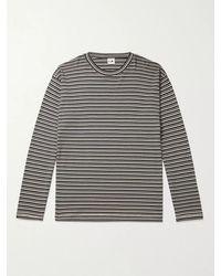 NN07 Kurt Striped Cotton And Modal-blend T-shirt - Blue