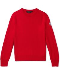 Canada Goose Patterson Merino Wool Jumper - Red