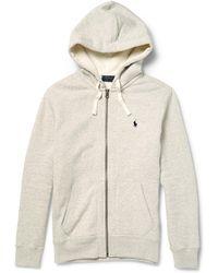 Polo Ralph Lauren - Marl Cotton-blend Zip-up Hoodie - Lyst