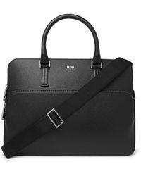 BOSS Full-grain Leather Briefcase - Black