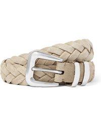 Brunello Cucinelli 2.5cm Woven Suede Belt - Multicolor