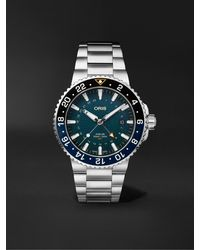 Oris Aquis Whale Shark Limited Edition Automatic 43.5mm Stainless Steel Watch, Ref. No. 01 798 7754 4175-set - Blue