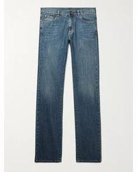 Canali Stretch-denim Jeans - Blue