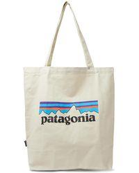 Patagonia Market Logo-print Organic Cotton-canvas Tote Bag - Multicolor