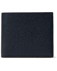 Valextra Pebble-grain Leather Billfold Wallet - Blue