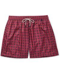 Rubinacci - Mid-length Printed Swim Shorts - Lyst