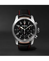 Bremont - Alt1-p/bk Automatic Chronograph 43mm Stainless Steel And Leather Watch - Lyst