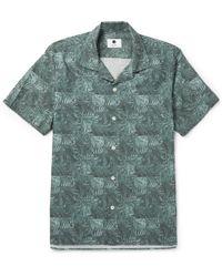NN07 - Miyagi Camp-collar Printed Cotton Shirt - Lyst