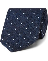 Tom Ford - 8cm Embroidered Polka-dot Textured-silk Tie - Lyst