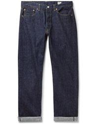 Orslow 105 Selvedge Denim Jeans - Blue