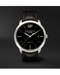 Girard-Perregaux 1966 Infinity Edition Automatic 40mm Stainless Steel And Leather Watch - Black