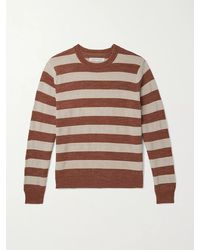 Outerknown Water-less Striped Organic Cotton Jumper - Red