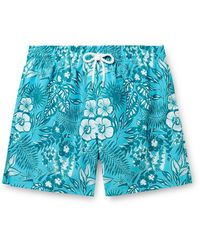 Derek Rose Maui 34 Mid-length Printed Swim Shorts - Blue