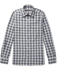 Tom Ford - Checked Cotton Shirt - Lyst