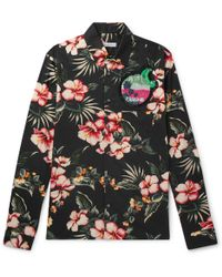 Valentino - Slim-fit Embellished Printed Cotton Shirt - Lyst