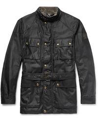 Belstaff Trialmaster Waxed-cotton Jacket - Black