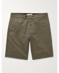 Officine Generale Fisherman Cotton-twill Shorts - Green
