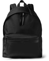Saint Laurent Leather-trimmed Canvas Backpack - Black