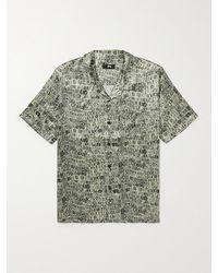 Stussy Camp-collar Printed Silk Shirt - Brown