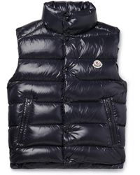 Moncler Tib Slim-fit Quilted Shell Down Gilet - Blue