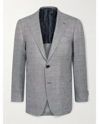 Kiton Slim-fit Unstructured Cashmere Blazer - Grey