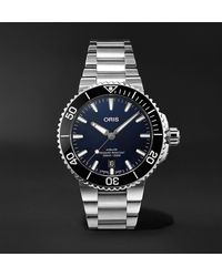 Oris Aquis Date Automatic 41.5mm Stainless Steel Watch - Blue